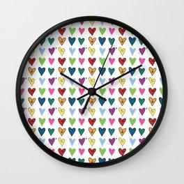 Hearts Explosion Wall Clock