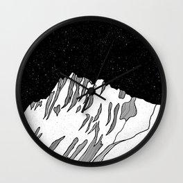 Puncak Jaya Mountain Black and White Wall Clock