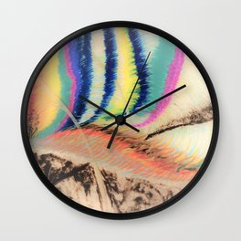 Abstract1 Oil Pastel  Wall Clock