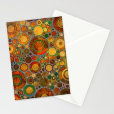 Abstract Circles Pattern 2 Stationery Cards