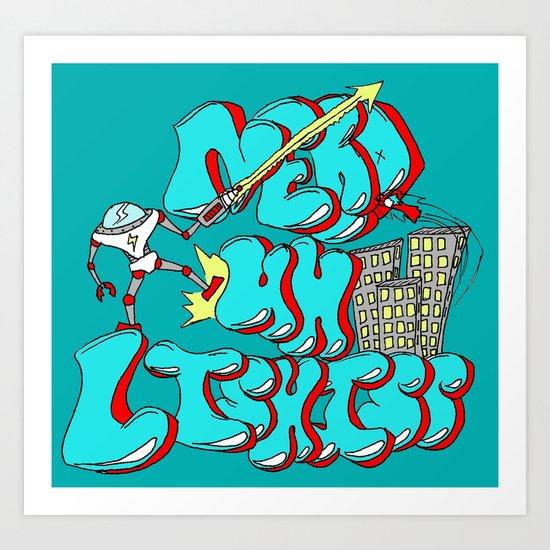 Nerds Are Heroes Art Print