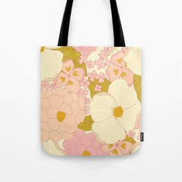 Pink Pastel Vintage Floral Pattern Umhängetasche