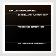 Irish Coffee Measuring Mug Art Print