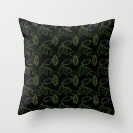 Cacao Pods (Black Glow) - Camo Throw Pillow