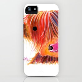 Scottish Highland Cow ' SWEET SATSUMA ' by Shirley MacArthur iPhone Case