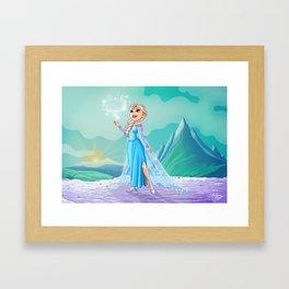 Elsa from Frozen Framed Art Print