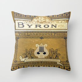 Vintage Book Cover Throw Pillow