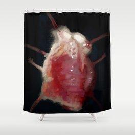 Mutated heart Shower Curtain