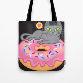 My cat loves donuts 2 Tote Bag