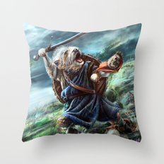 Bruno the Brave Throw Pillow