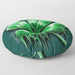 Four Leaf Clover Melting Luck Floor Pillow