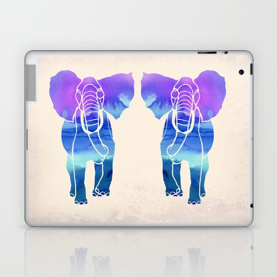 Watercolor Elephant Laptop & iPad Skin