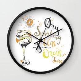 Cocktail Art: Mimosa Wall Clock