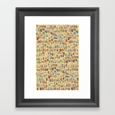 Houses - springish Framed Art Print