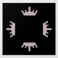 crown repeat Art Print