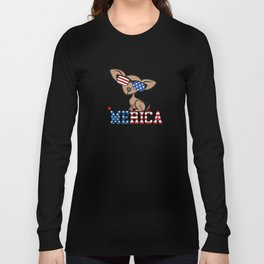 Chiweenie Merica Independence Freedom Long Sleeve T-shirt