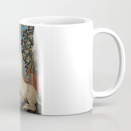 Medieval Art - Lady and the Unicorn in Turquoise Coffee Mug
