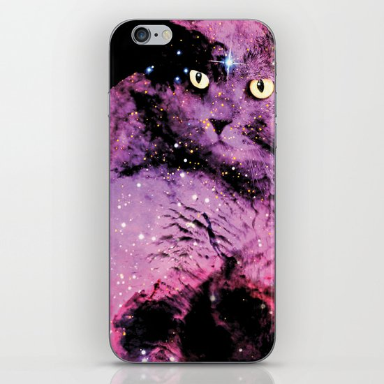 Celestial Cat - The British Shorthair & The Pelican Nebula iPhone & iPod Skin