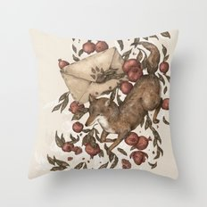 Coyote Love Letters Throw Pillow
