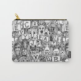animal ABC black white Carry-All Pouch