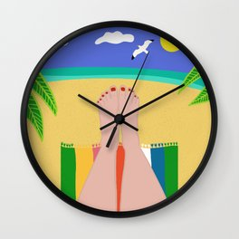 Beachy Keen Wall Clock