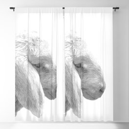 Black and White Sheep Blackout Curtain