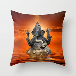 Elephant God Ganesha Throw Pillow