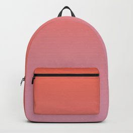 Pantone Living Coral & Sea Pink Gradient Ombre Blend Backpack