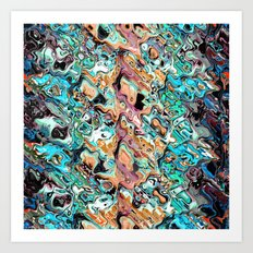 Colorful Distortions Abstract Art Print