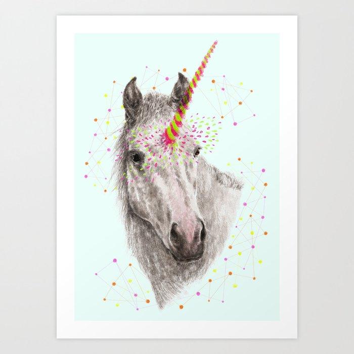 Unicorn V Art Print