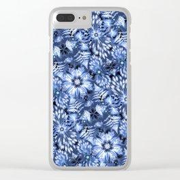 Botanical Indigo Shibori Clear iPhone Case