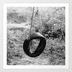 Vintage Tire Swing Art Print