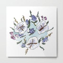 cotton bouquet Metal Print
