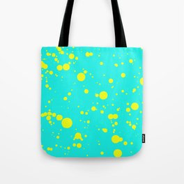 310001 Turquoise and Yellow Painting Tote Bag
