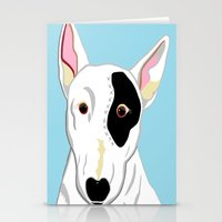 bull terrier Stationery Cards featuring Bull Terrier by EloiseArt