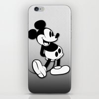 mickey iPhone & iPod Skins featuring Mickey by Small Worlds