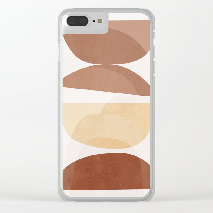 abstract minimal 7 Clear iPhone Case