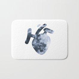Moony Heart Bath Mat