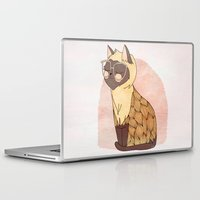 nan lawson Laptop & iPad Skins featuring Hip Cat by Nan Lawson