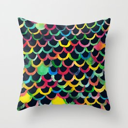 COLOR SCALES DARK Throw Pillow