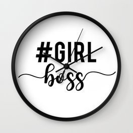 Girl Boss, #girlboss Wall Clock