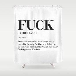 FUCK Shower Curtain