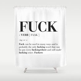 FUCK Shower Curtain