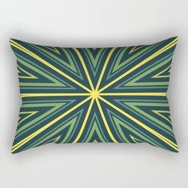 Barcode Sunburst Square (Yellow Green) Rectangular Pillow