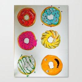 Donut Faces Canvas Print