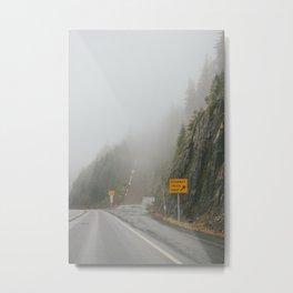 Foggy Runaway Truck Ramp Metal Print