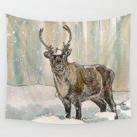 reindeer Wall Tapestries featuring Reindeer by Meredith Mackworth-Praed