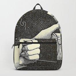Curiosités physiologiques - Guyot-Daubès - 1885 Surrealism Hand Tie Nots Black And White Ink Illustr Backpack