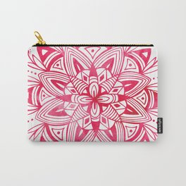 Mandala - Pink Watercolor Carry-All Pouch