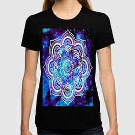 Mandala : Bright Violet & Teal Galaxy T-shirt